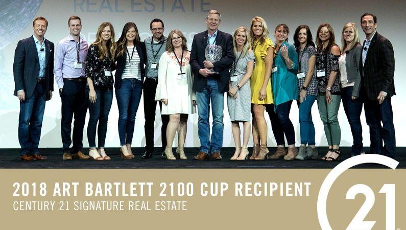 2018 Art Bartlett 2100 Cup Award Winners – CENTURY 21 Signature Real Estate