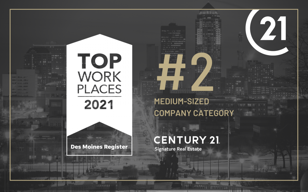 CENTURY 21 Signature Real Estate Named Top Workplace 2021